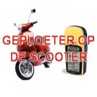 Geploeter op de scooter